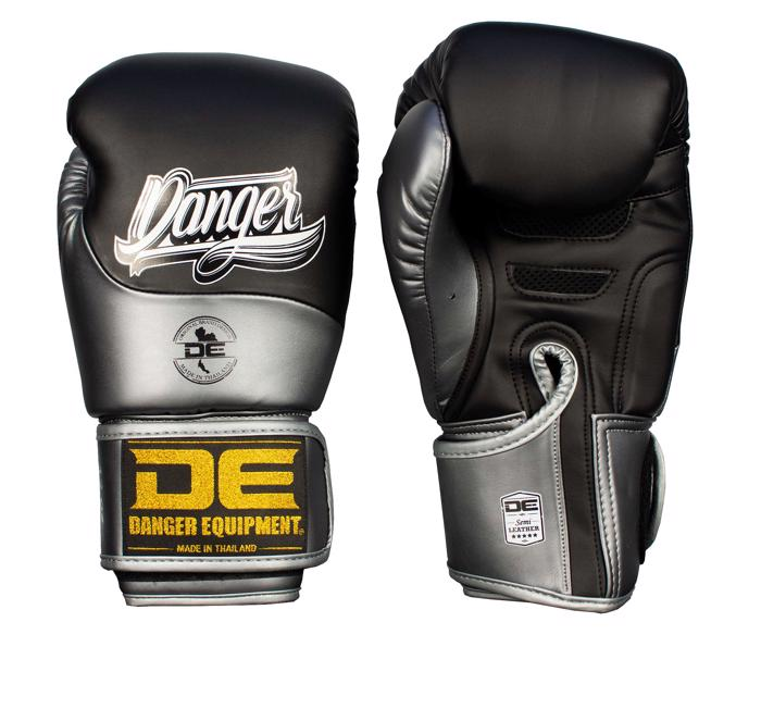 Danger Evolution Boxing Gloves-Black/Metal graphite