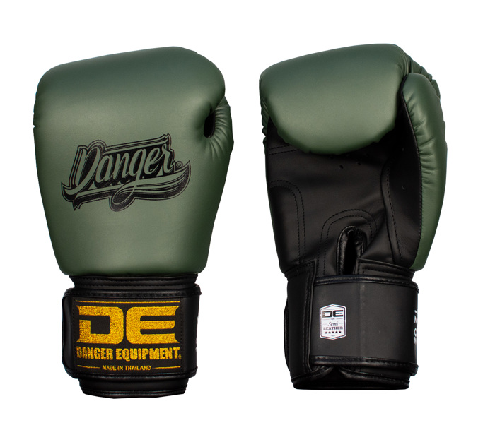 Danger Classic Muay Thai Gloves-Olive