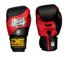 Danger EVOLUTION flag Muay Thai Gloves-BLACK RED