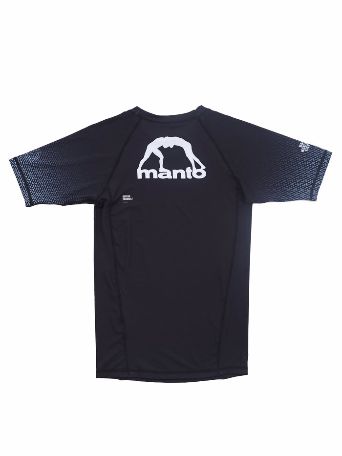 MANTO RANK RASHGUARD-black