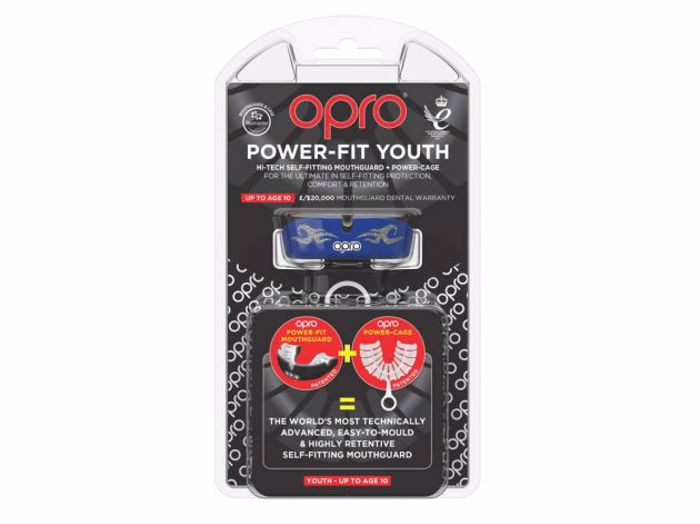 Opro POWER-FIT BLING - blue/silver