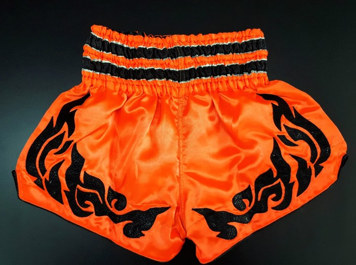 Danger Neon Thai Shorts-Orange