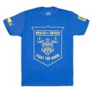 BAD BOY FIGHT FOR HONOR T-SHIRT-Blue