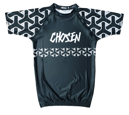 CHOSEN PATTERN RASHGUARD - BLACK
