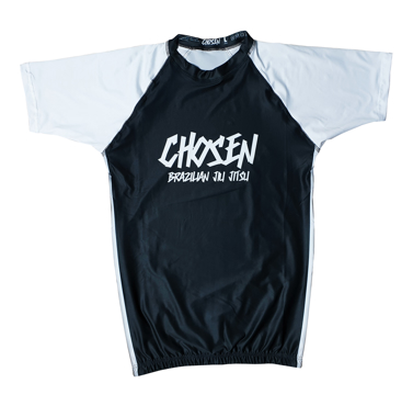 CHOSEN RANKED BJJ RASHGUARD- BLACK