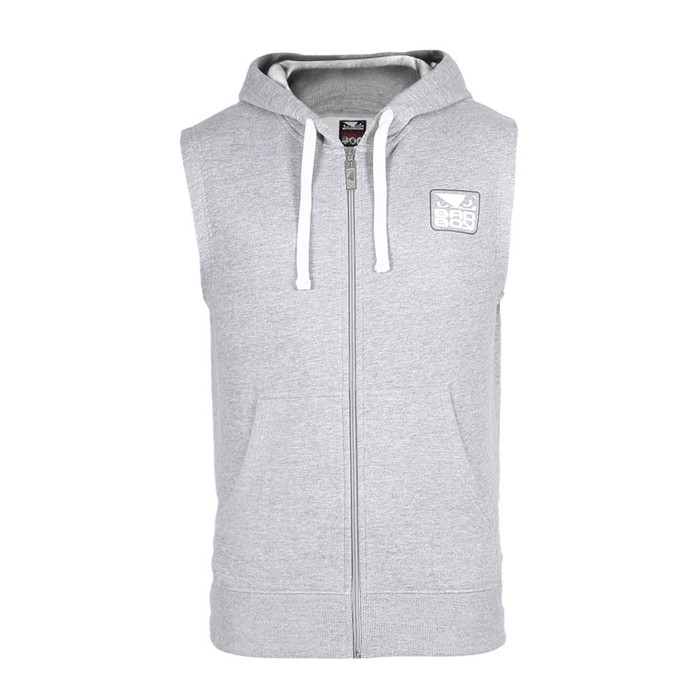 BAD BOY Core Sleeveless Hoodie-Grey
